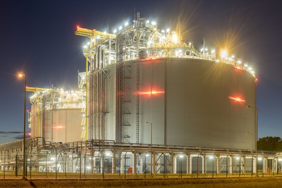 LNG storage tanks at a terminal in Poland